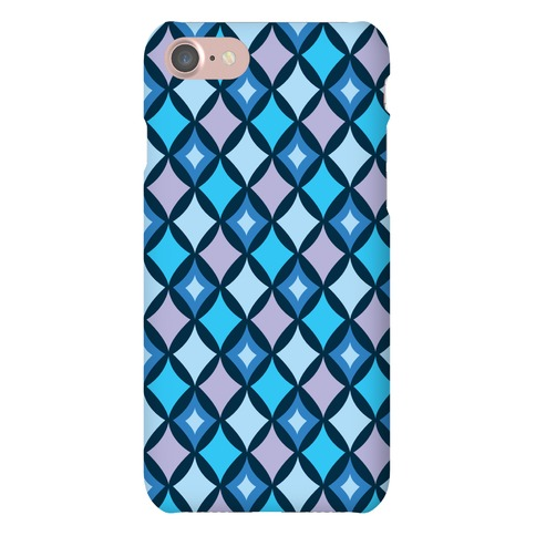 Diamond Pattern Case (Blue) Phone Case