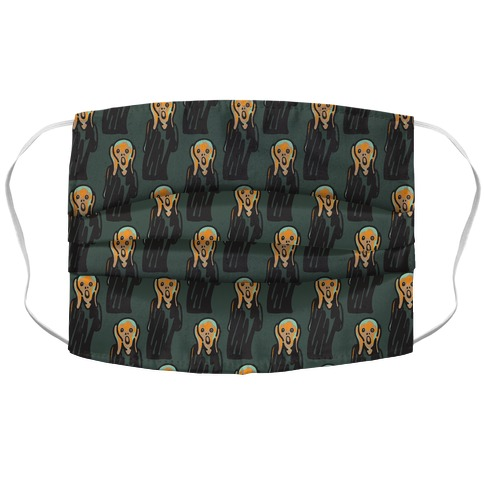 Mood The Scream Parody Accordion Face Mask