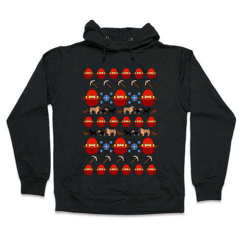 Yukon Cornelius Ugly Sweater Hooded Sweatshirt