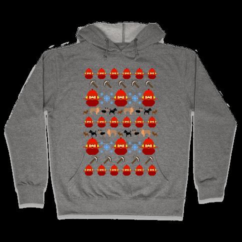 Yukon Cornelius Ugly Sweater Hooded Sweatshirt