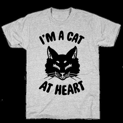 I'm a Cat at Heart Mens T-Shirt