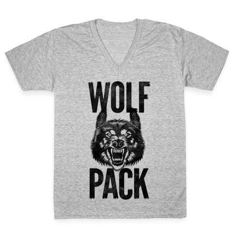 Wolf Pack V-Neck Tee Shirt