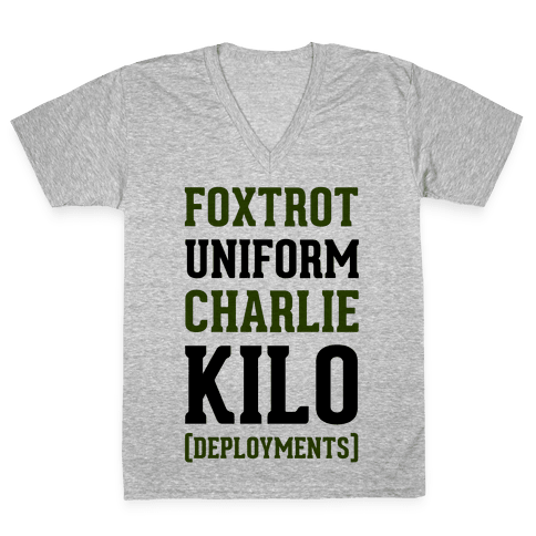 Foxtrot Uniform Charlie Kilo (Deployments) V-Neck Tee Shirt