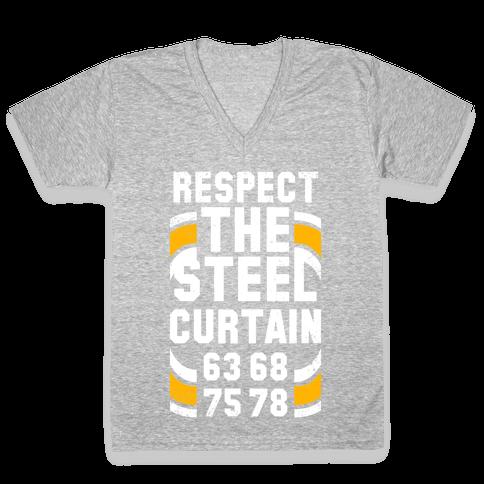 Steel Curtain (Vintage) V-Neck Tee Shirt