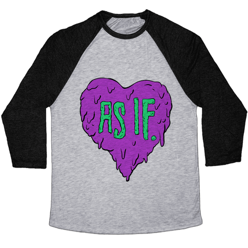 As If Heart Baseball Tee
