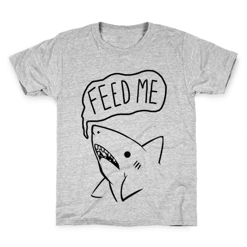 Feed Me Shark Kids T-Shirt