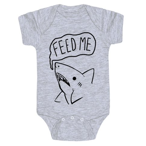 Feed Me Shark Baby Onesy
