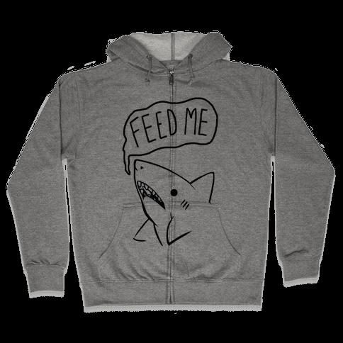 Feed Me Shark Zip Hoodie