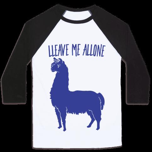 Leave Me Alone Llama Baseball Tee