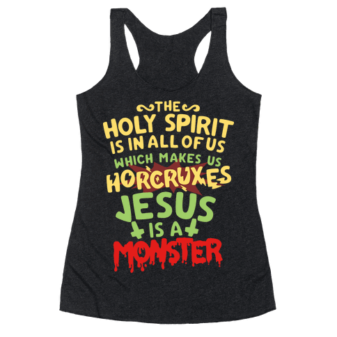 Holy Spirit Horcruxes Racerback Tank Top