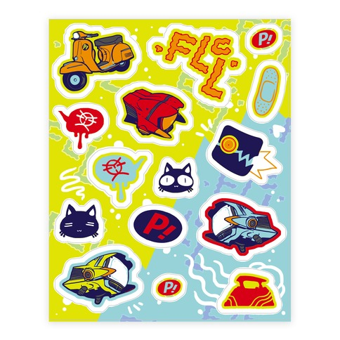 FLCL Sticker and Decal Sheet