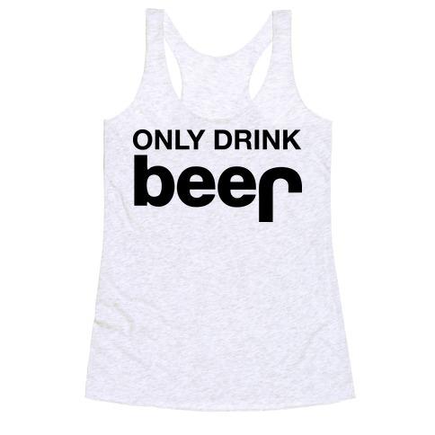 ONLY DRINK BEER (JEEP) Racerback Tank Top