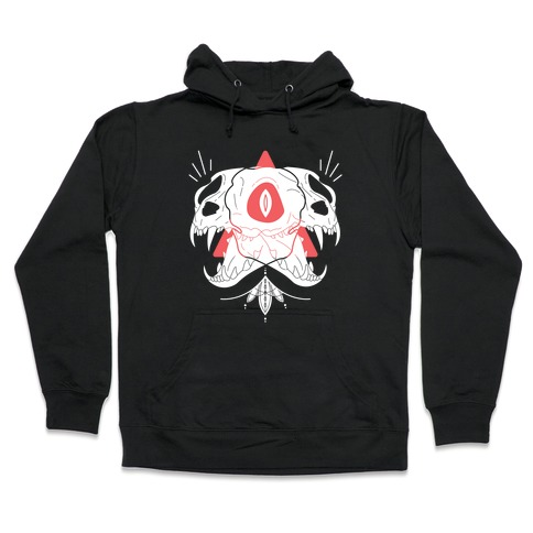 Double Cat Skulls Hooded Sweatshirt