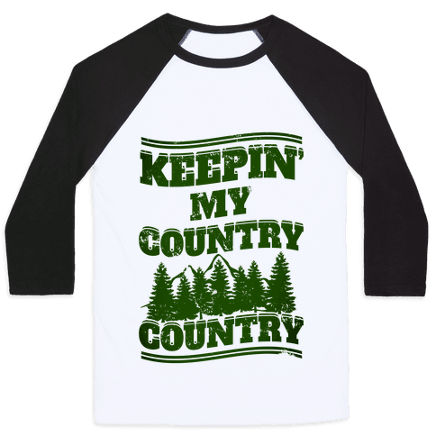 Keepin' My Country Country Baseball Tee