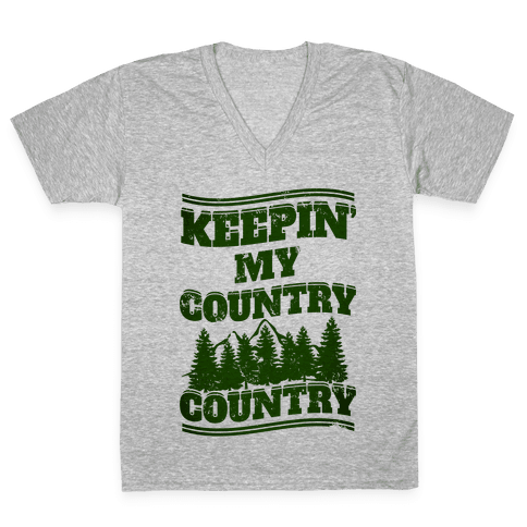 Keepin' My Country Country V-Neck Tee Shirt