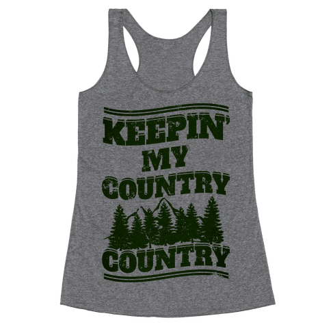 Keepin' My Country Country Racerback Tank Top