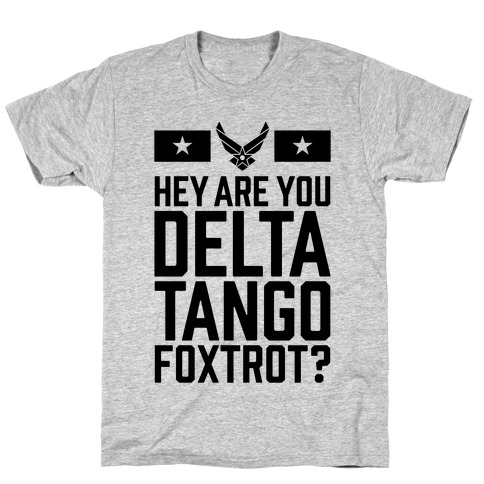 Delta Tango Foxtrot (Air Force) Mens/Unisex T-Shirt