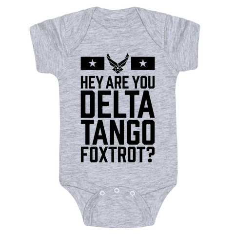 Delta Tango Foxtrot (Air Force) Baby Onesy