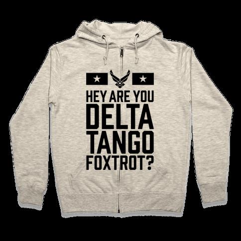 Delta Tango Foxtrot (Air Force) Zip Hoodie