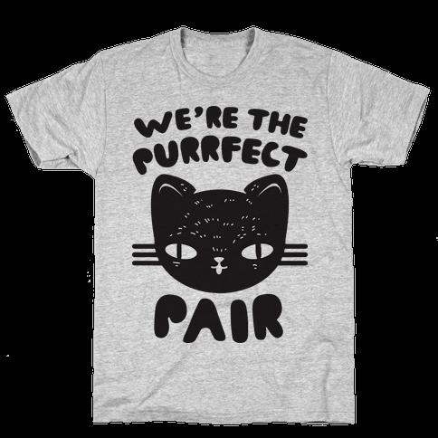 We're The Purrfect Pair (Black Cat) Mens T-Shirt