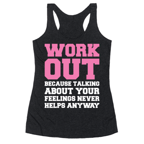Work Out Racerback Tank Top