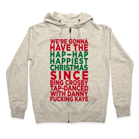 Hap-Hap Happiest Christmas (baseball) Zip Hoodie
