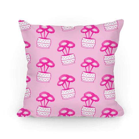 Pink Daisy Pattern Pillow