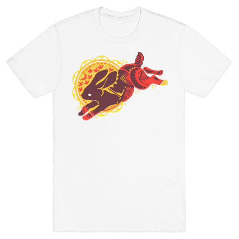 Tribal Rabbit Mens T-Shirt