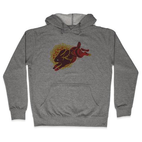 Tribal Rabbit Hooded Sweatshirt