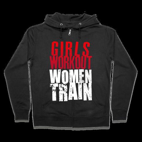 Girls Workout; Women Train Zip Hoodie