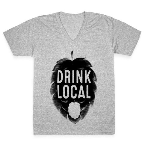 Drink Local V-Neck Tee Shirt
