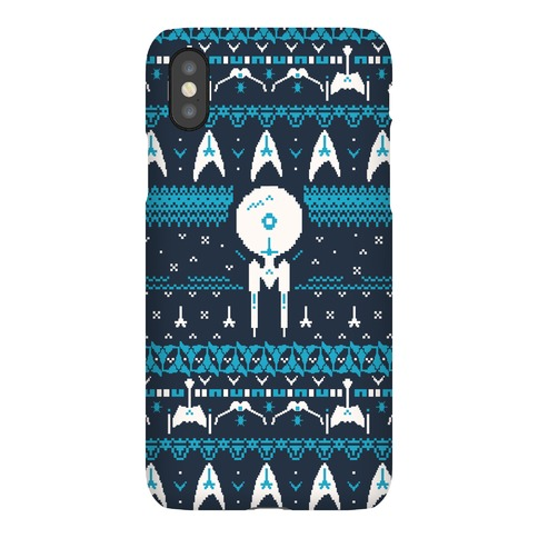 Captain's Ugly Sweater Pattern Phone Case