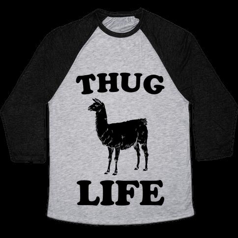 Thug Life Llama Baseball Tee