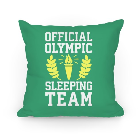 Official Olympic Sleeping Team Pillow