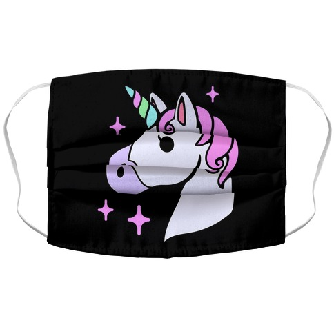 Unicorn Head Accordion Face Mask