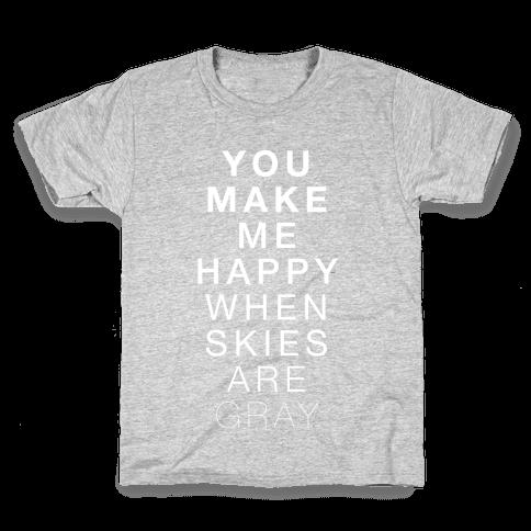 You Make Me Happy (SUNSHINE) Kids T-Shirt
