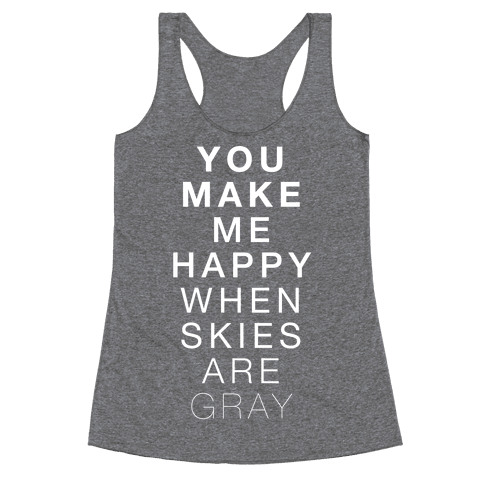You Make Me Happy (SUNSHINE) Racerback Tank Top