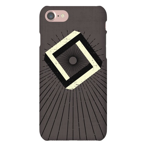 3D Geometric Square Phone Case