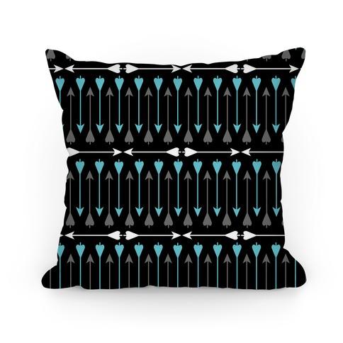 Bow Arrow Stripe Pattern Pillow