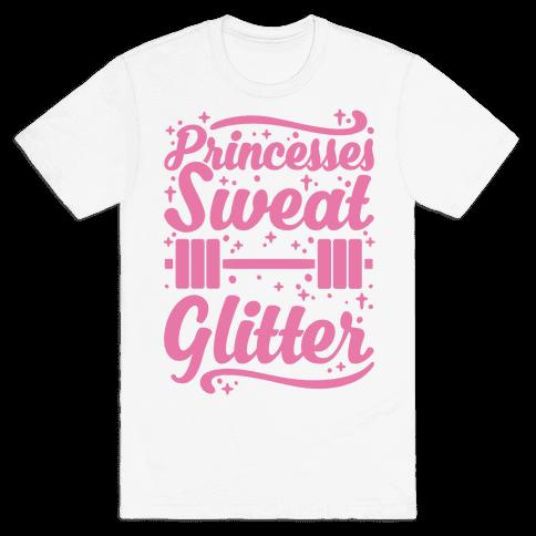 Princesses Sweat Glitter Mens T-Shirt