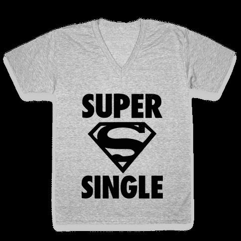 Super Single V-Neck Tee Shirt