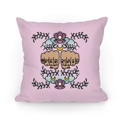 Mermaid Knuckles Pillow