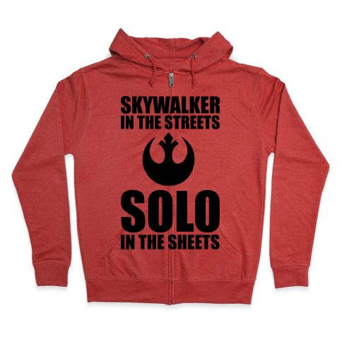 Skywalker In The Streets Solo In The Sheets Zip Hoodie