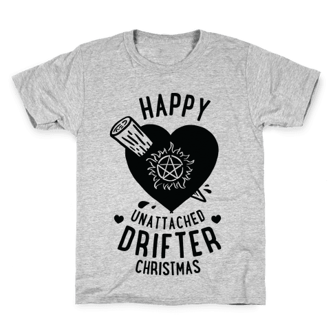 Happy Unattached Drifter Christmas Kids T-Shirt