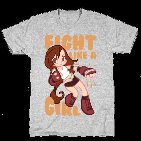 Tifa: Fight Like a Girl Mens T-Shirt