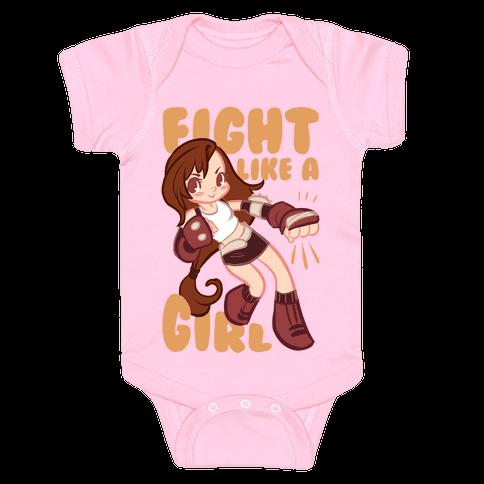 Tifa: Fight Like a Girl Baby Onesy