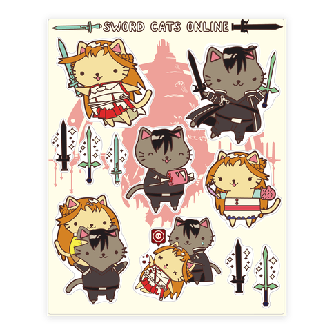 Sword Cats Online Sticker/Decal Sheet
