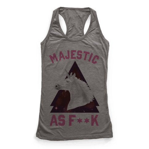 Majestic as F*** Racerback Tank Top