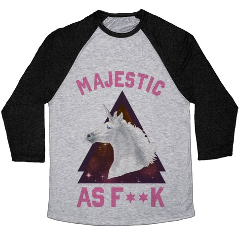 Majestic as F*** Baseball Tee