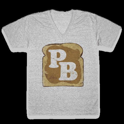 PB and J (Peanut Butter) V-Neck Tee Shirt